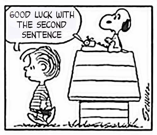 Peanuts on Writing